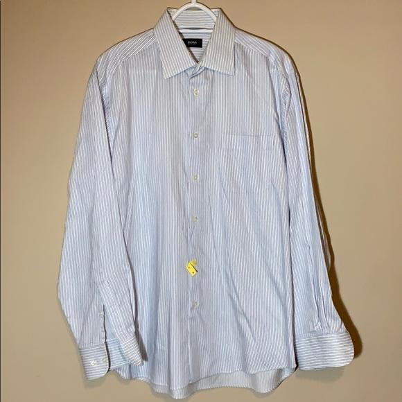 398be0a5b Hugo Boss Shirts | Mens Button Down Dress Shirt Long Xxl | Poshmark